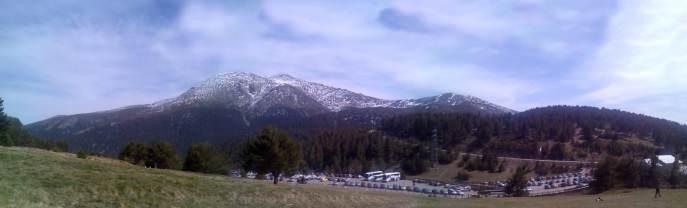 Foto tomada el dia de la ascensión al pico de Peñalara con Jon mi compañero de Dominion.