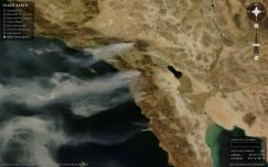 Vista desde satélite de los incendios de California